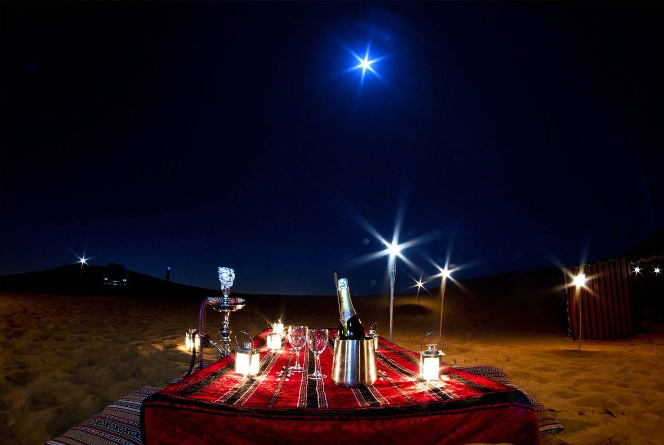 Overnight Desert Safari is one of most Romantic things to Do in Dubai