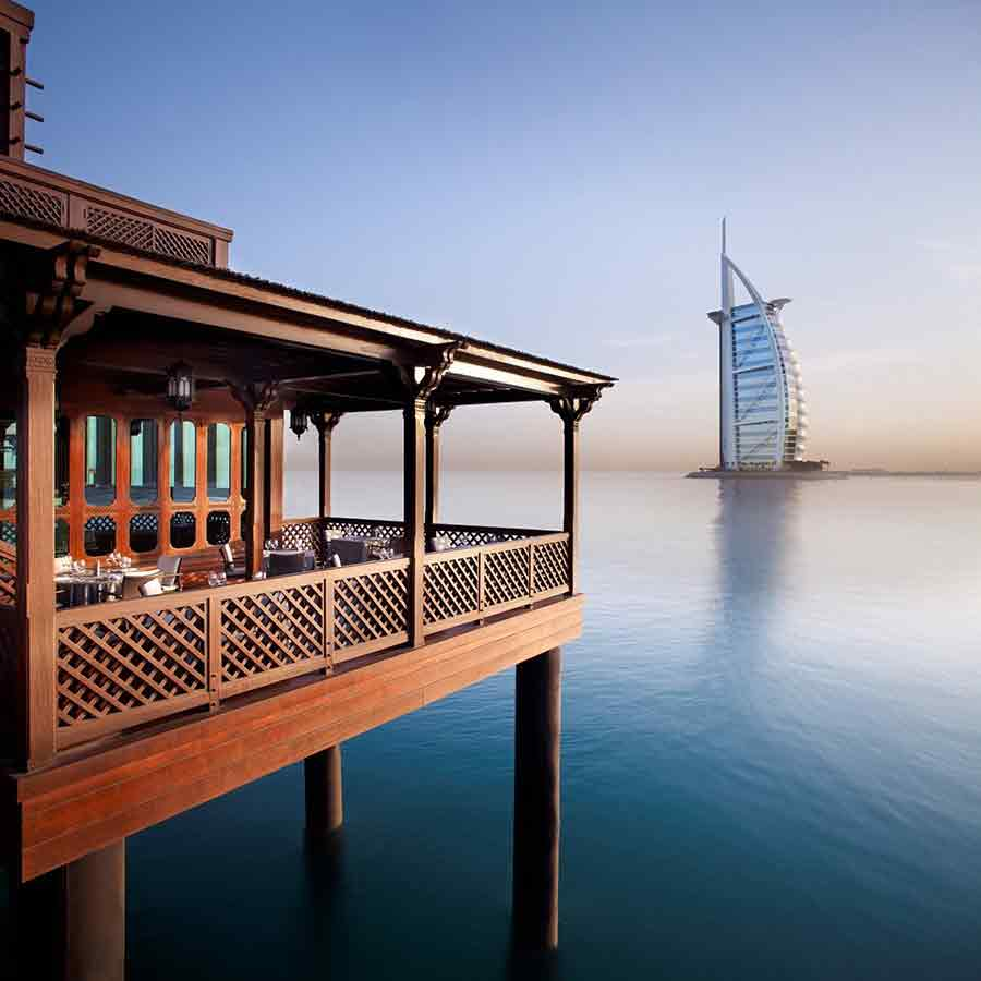 Pierchic Restaurant With A View Of Burj Al Arab In Dubai