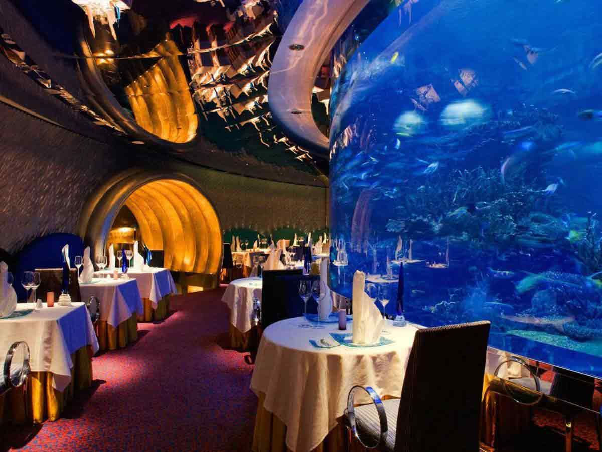 Nathan Outlaw at Al Mahara underwater View Restaurant In Dubai