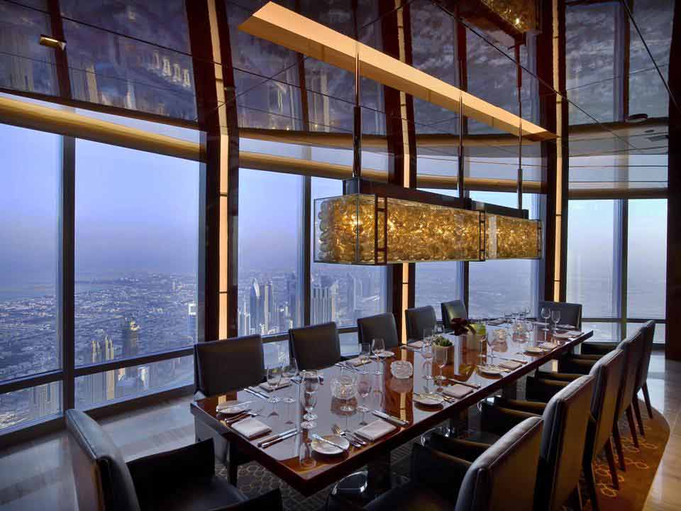 At.mosphere Restaurant with View Of Dubai At Burj Khalifa