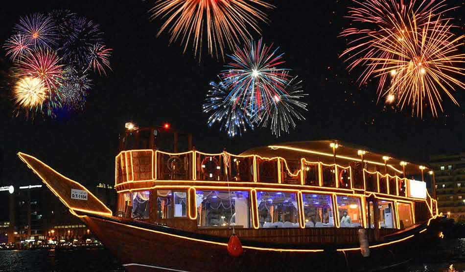 Dubai New Year Eve at Dhow Cruise