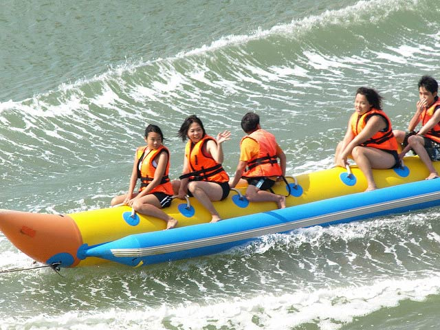 Banana Boat ride in Musandam Dibba Tour