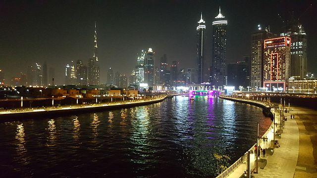Dubai water canal view of Dubai city