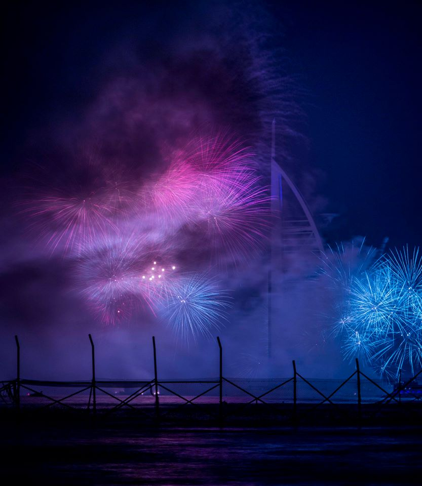 Black Palace Beach New year fireworks