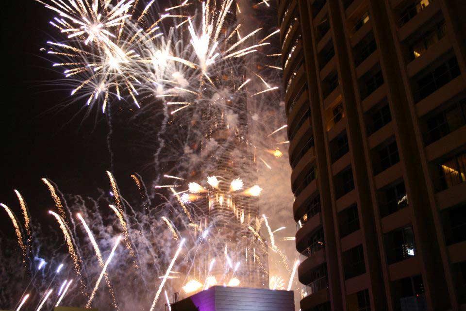 Cabana new year fireworks in dubai