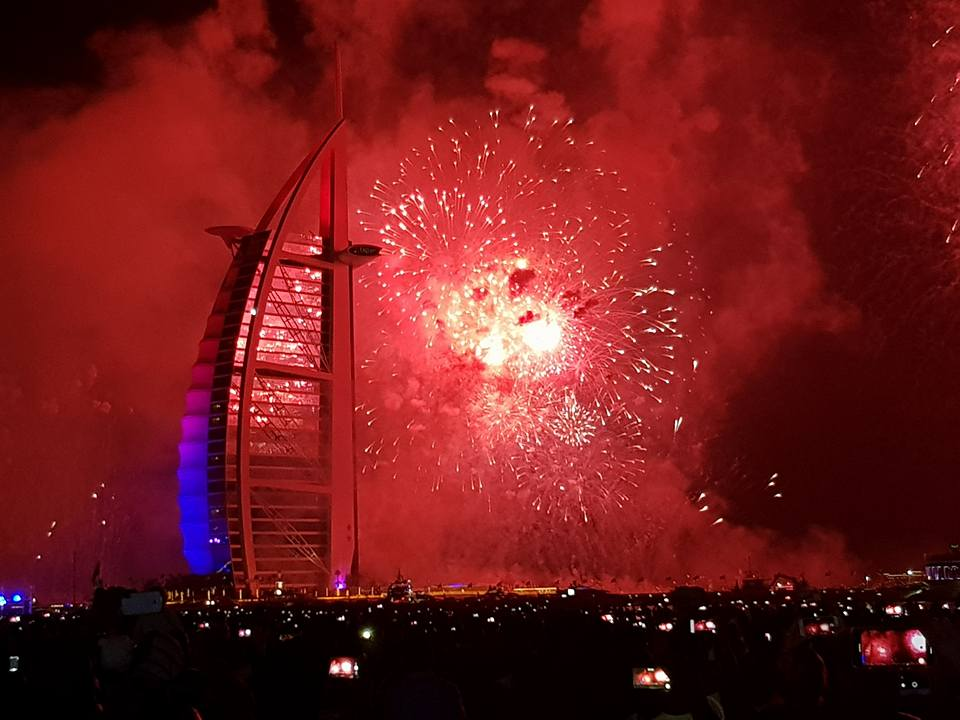 Kite Beach fireworks during new year eve