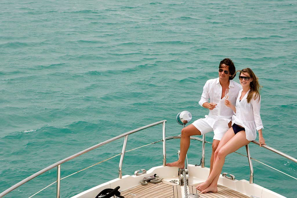 Romantic Couple Date on a Yacht in Dubai