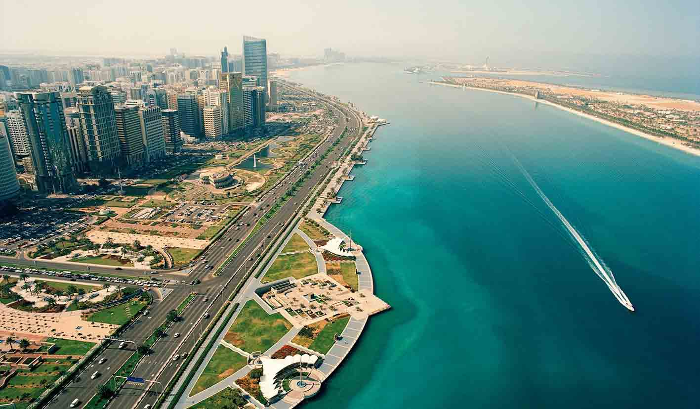 The Abu Dhabi Corniche
