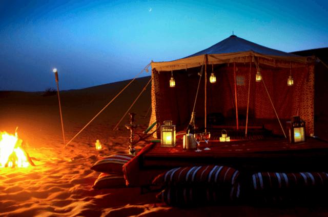 Overnight Desert Safari is one of best Romantic Destination in Dubai