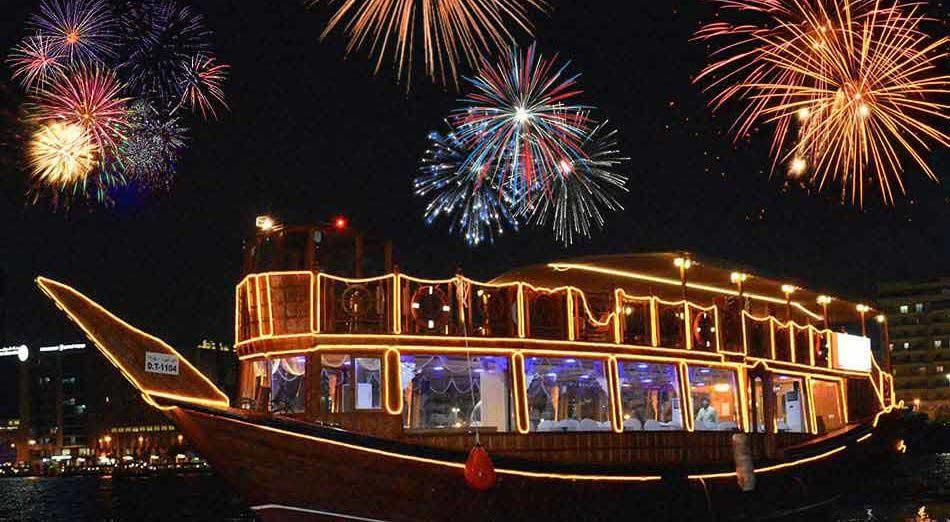 Dubai New Year Eve at Dhow Cruise