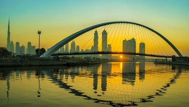 Dubai Water Canal Tolerance Bridge