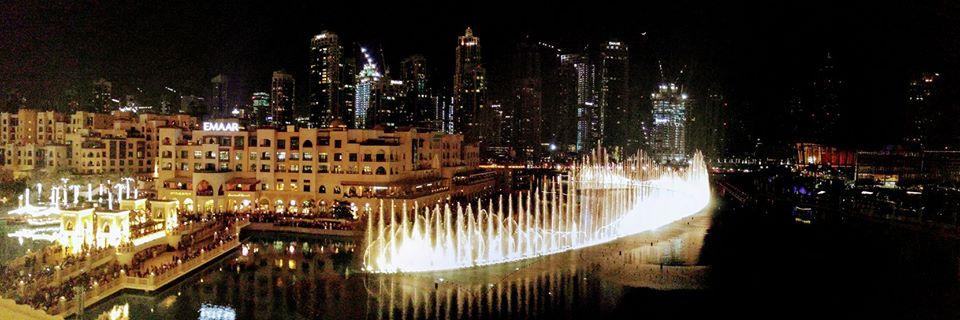 Dubai fountain Show at night photos