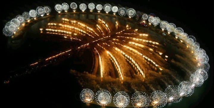 Palm Jumeirah Boardwalk Fireworks view