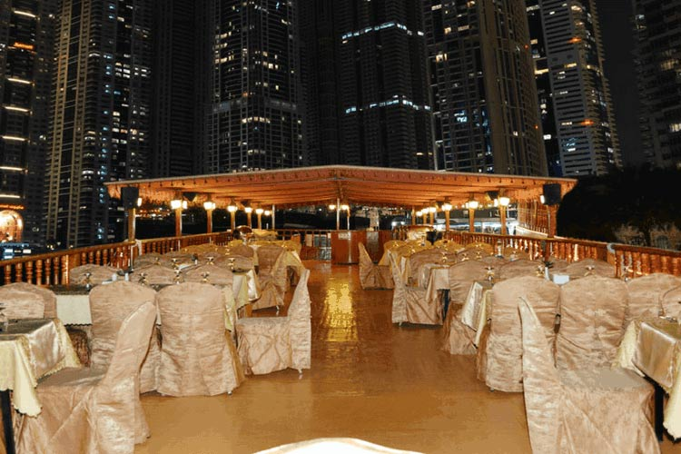 Top deck of the Dhow Cruise